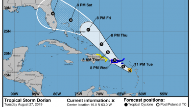 Photo of Dorian projected to become a hurricane before hitting Florida