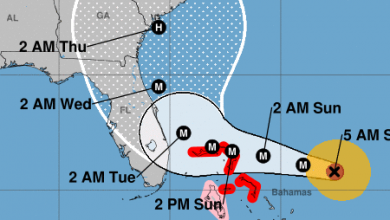 Photo of NHC has Dorian moving away from the Treasure Coast