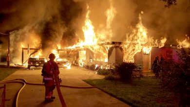 Photo of Fort Pierce home, cars destroyed by fire