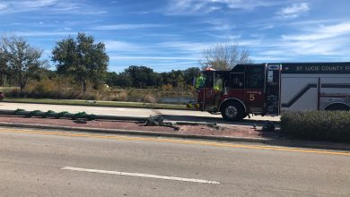 Photo of Car crashes, ends up in Port St. Lucie lake