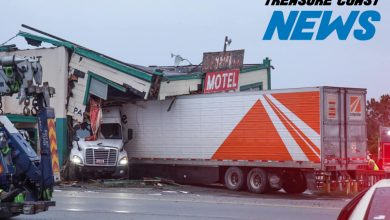 Photo of Historic Yeehaw Junction building destroyed by errant tractor-trailer