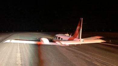 Photo of Plane belly-lands at St. Lucie County airport