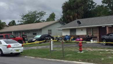 Photo of Martin County Sheriff investigating death of child in Hobe Sound