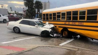 Photo of Fort Pierce school bus crash sends students to hospital