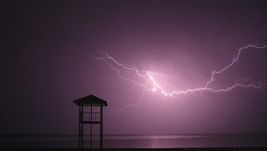 Photo of Two fishermen struck by lightning at Hobe Sound Beach