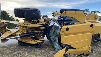 Photo of Construction Driver Escapes Serious Injury in Port St. Lucie