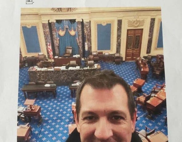 U.S. prosecutors entered this selfie photo of Anthony Mariotto into evidence after charging him with two criminal counts.